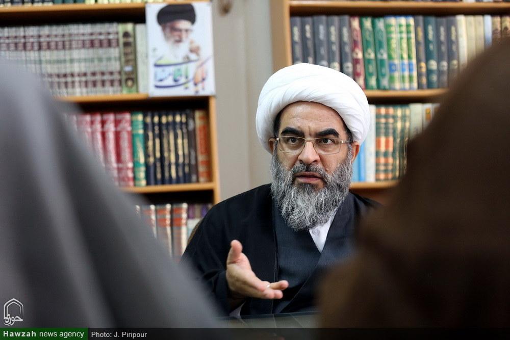 """آیت اللہ محمدجواد فاضل لنکرانی کا """"حوزہ نیوز ایجنسی"""" کے ہیڈ کا آفس کا دورہ/تصویری رپورٹ"""