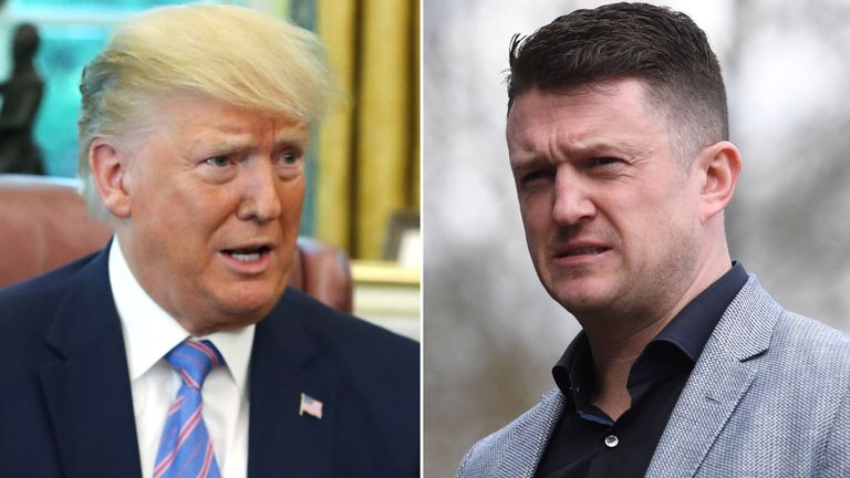 Tommy Robinson: EDL founder begs Trump to grant him political asylum in US