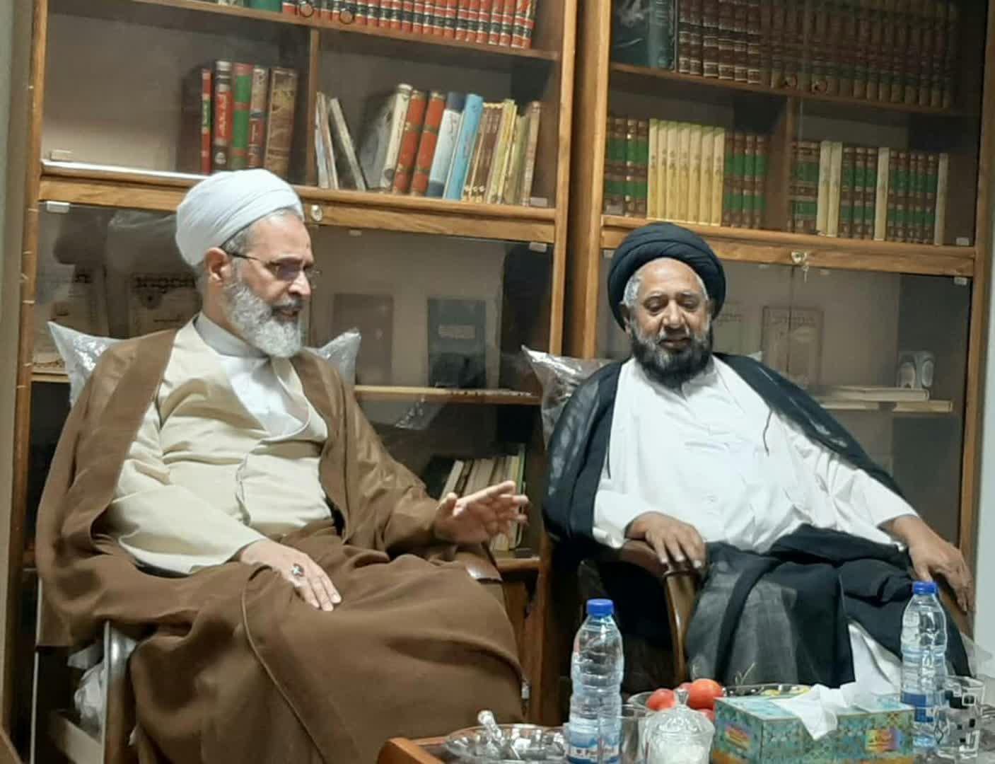 آیت اللہ اعرافی کی علامہ قاضی نیاز حسین نقوی سے قم میں ملاقات+تصاویر