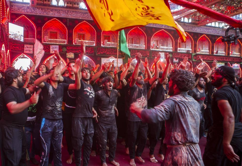 دسته های عزاداری مراسم اربعین حسینی در کربلا