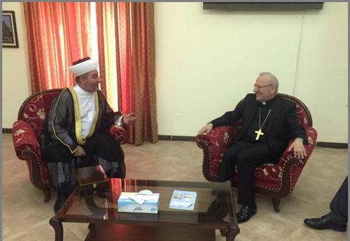 رئیس انجمن علمای موصل با اسقف اعظم کلدانی های عراق دیدار کرد