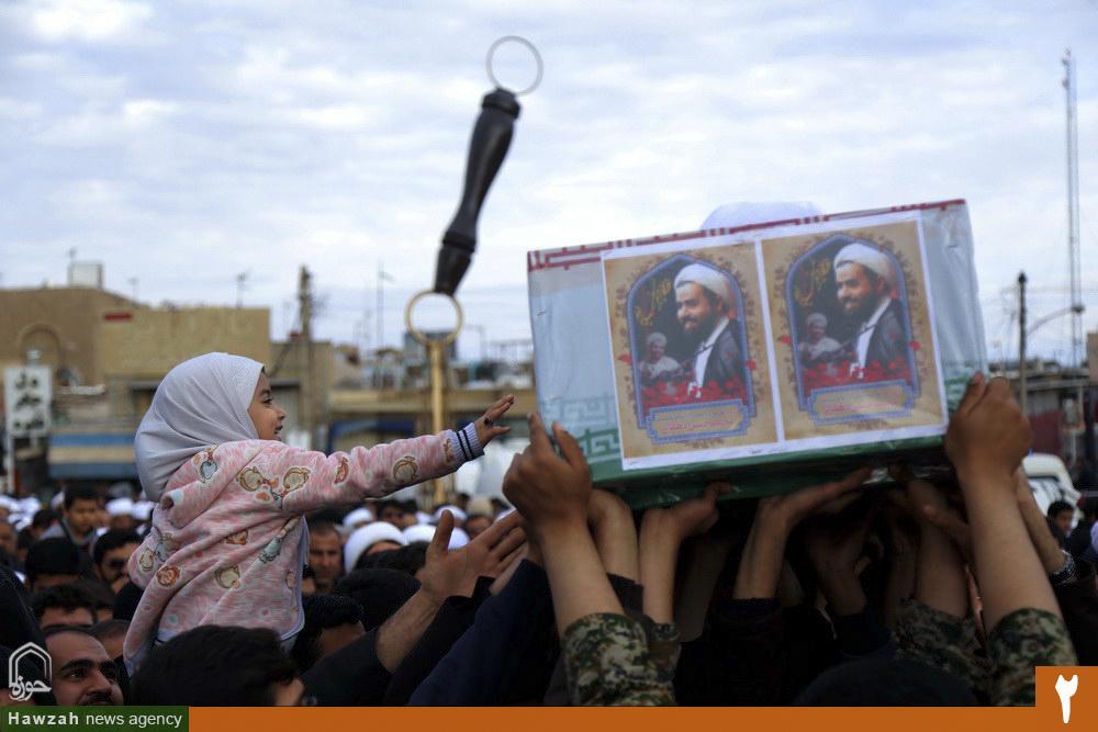 مراسم تشییع پیکر شهید مدافع حرم حجت الاسلام والمسلمین محمدحسن دهقانی
