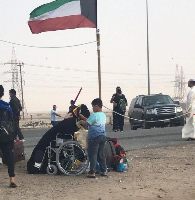 زائران اربعین بحرینی در مرز عبدلی کویت
