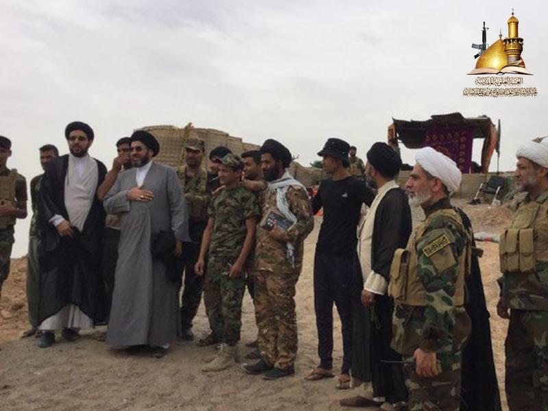 حضور گروهی از اساتید حوزه علمیه نجف در مناطق جنگی