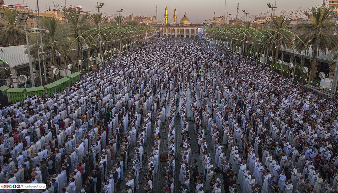 نماز عید بین الحرمین کربلا