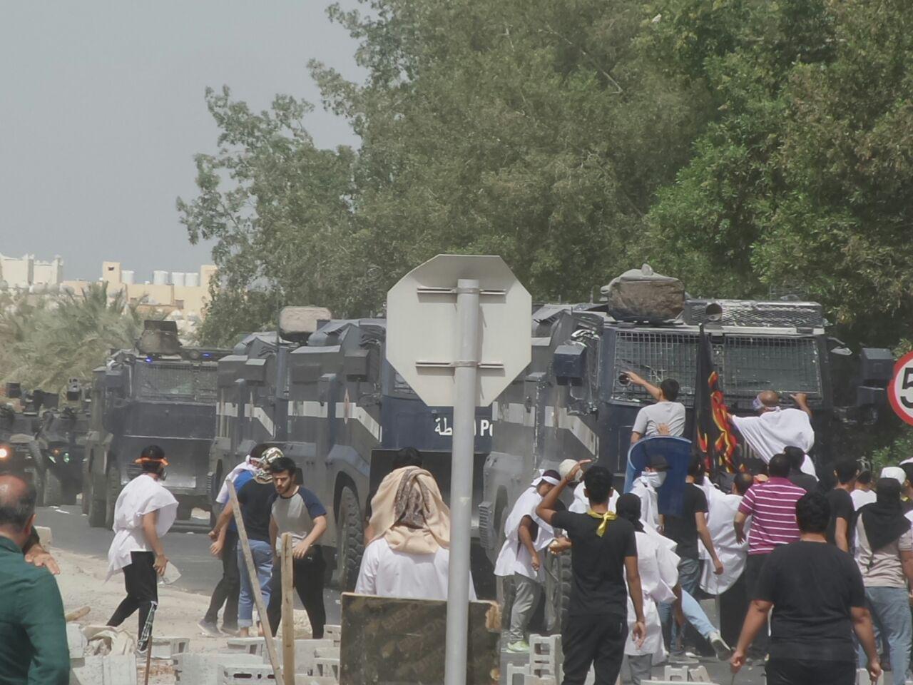 درگیری خونین نیروهای امنیتی بحرین با مردم