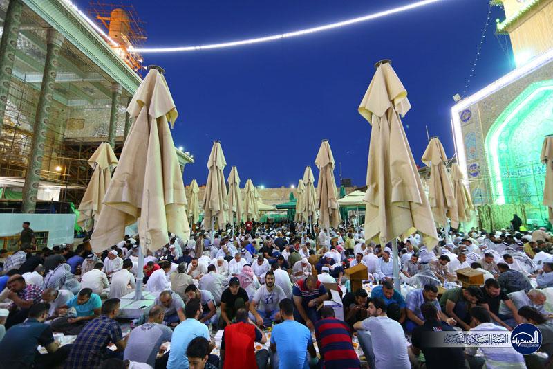 سفره کرامت عسکریین(ع) برای زائران