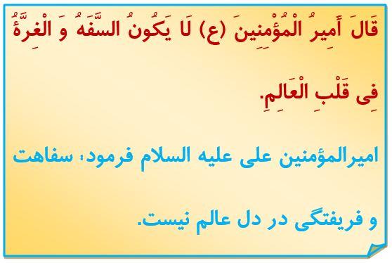 حدیث روز /خبرگزاری حوزه /علما/ امام علی(ع)/ کتاب الکافی/ سفاهت