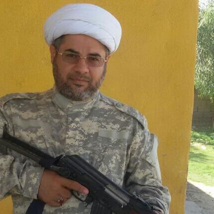حجت الاسلام هاشم ابوخمسین روحانی عراقی و از رزمندگان حشدالشعبی(بسیج مردمی عراق)