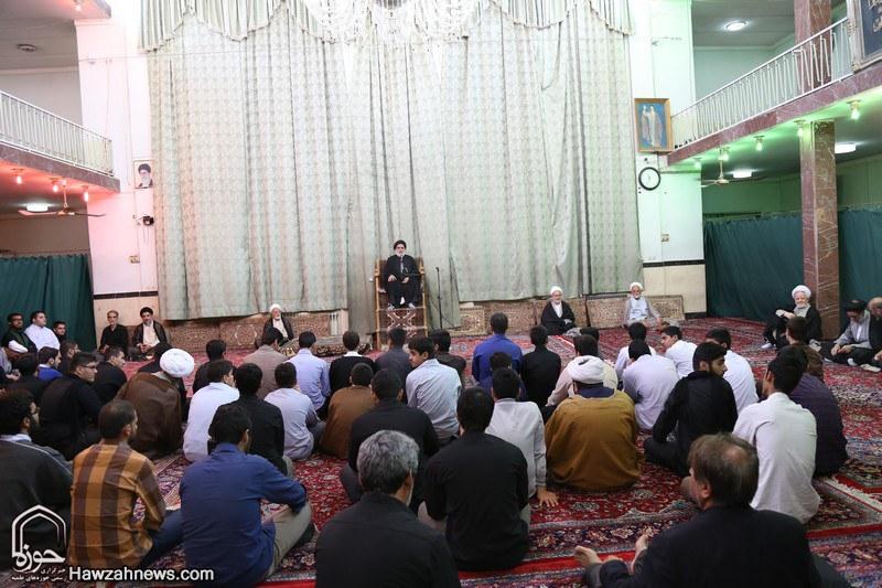 تصاویر/ مراسم عزاداری شهادت امام جواد(ع) در بیوت مراجع