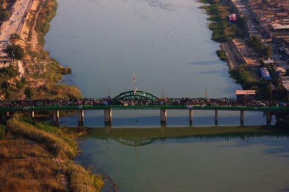 تصاویر هوایی از راهپیمایی اربعین