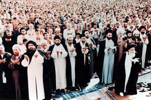 نماز جماعت آیت الله مرعشی نجفی