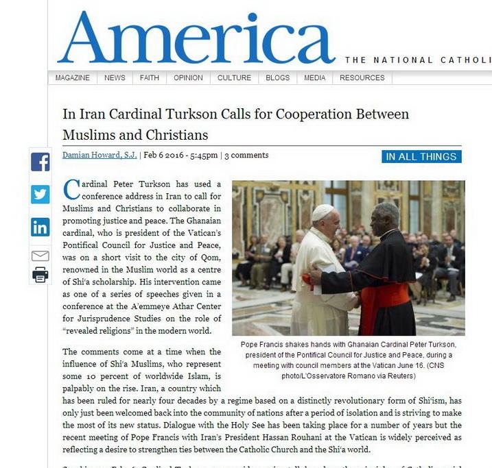 بازتاب سفر مقام ارشد واتیکان به قم در رسانههای جهان