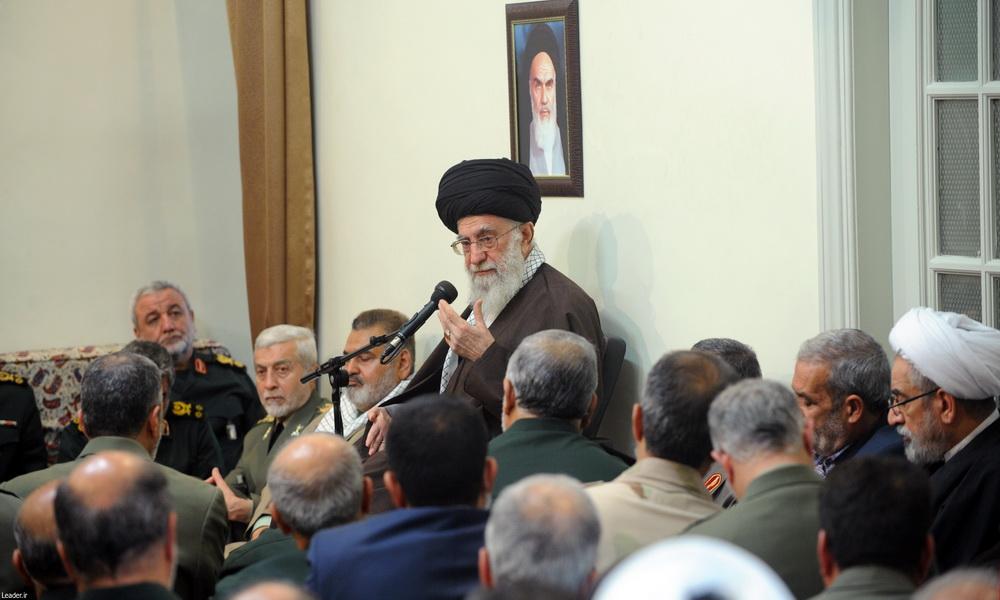 رهبر معظم انقلاب اسلامی در دیدار فرماندهان ارشد نیروهای مسلح: