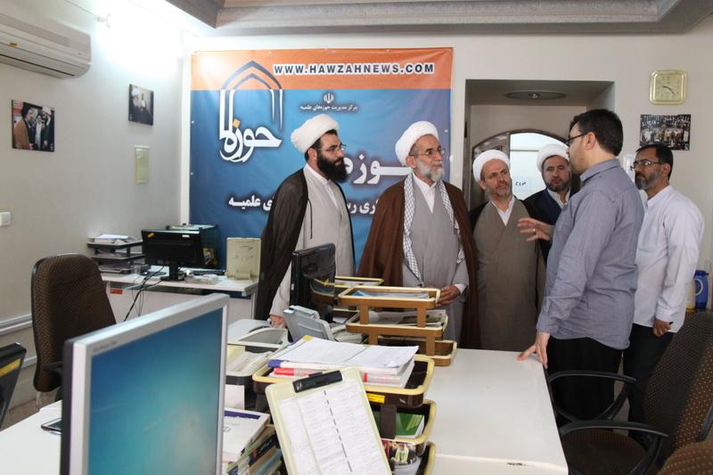 بازدید مدیر حوزه علمیه قزوین از رسانه رسمی حوزه