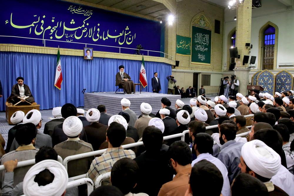 رهبر معظم انقلاب در دیدار طلاب و فضلای حوزه علمیه تهران