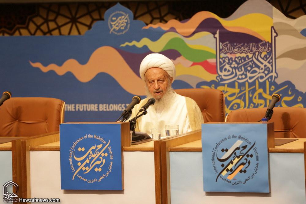 آیت الله العظمی مکارم در همایش دکترین مهدویت در دوازدهمین همایش بین المللی دکترین مهدویت