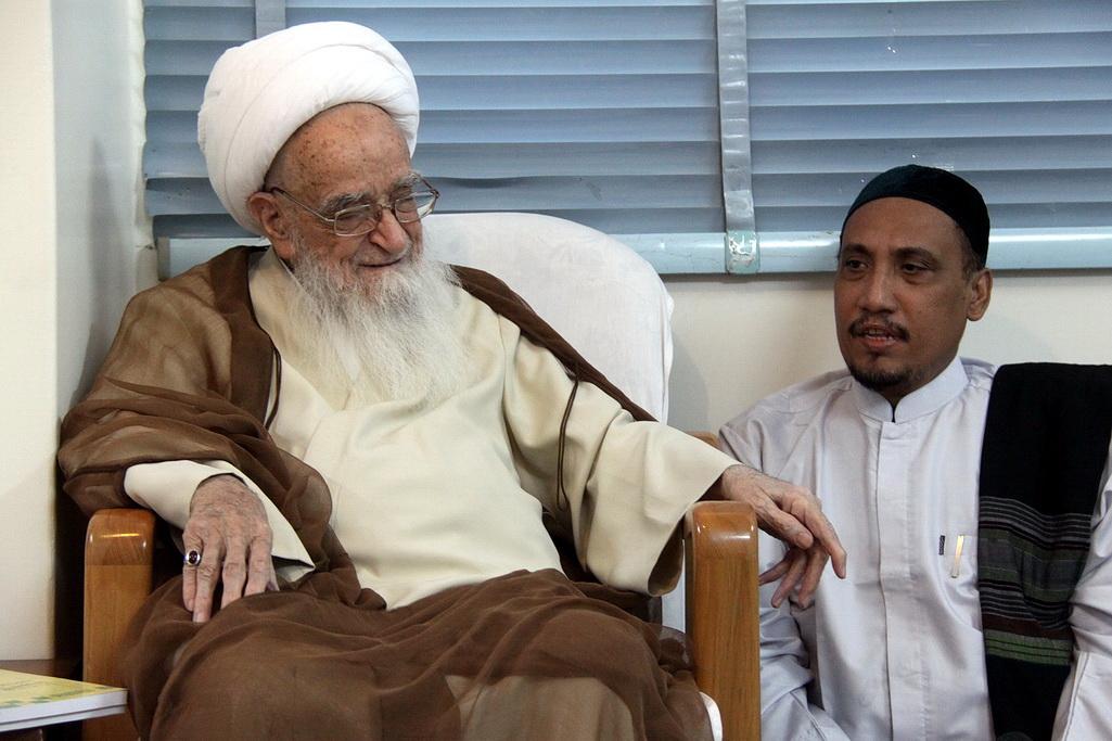 آیت الله العظمی صافی گلپایگانی در دیدار علمای هند و اندونزی