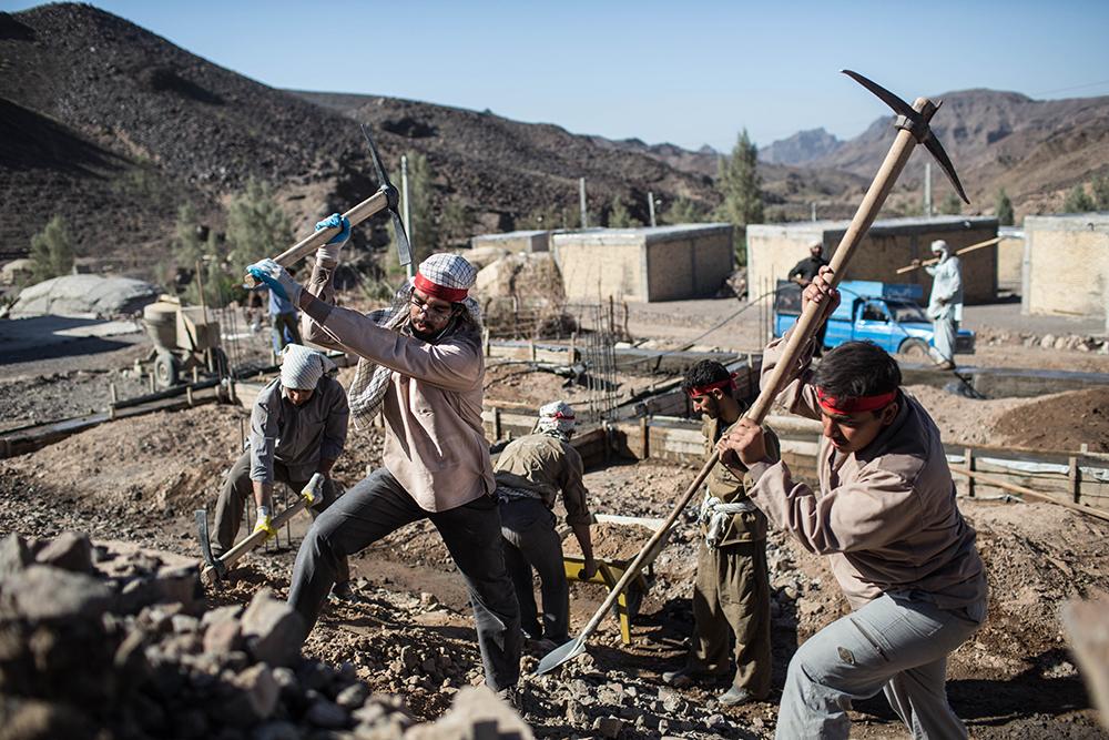 طلبه جیرفتی در اردوی جهادی مناطق محروم
