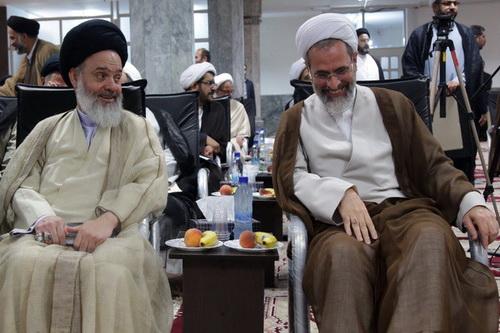 آیت الله اعرافی - آیت الله حسینی بوشهری- مدیر حوزه های علمیه