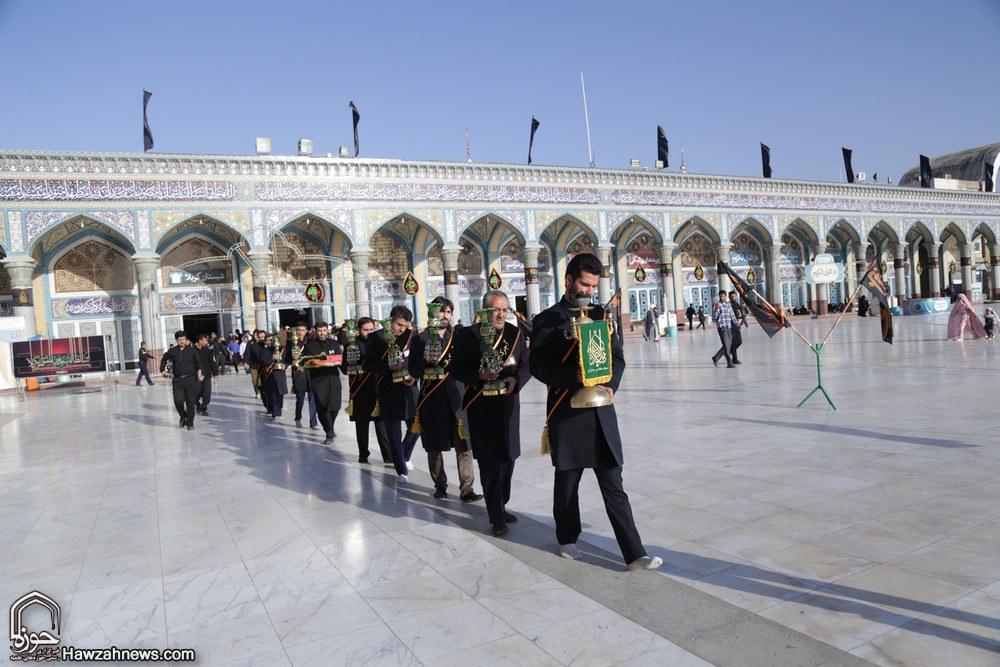 تصاویر/ اهتزاز پرچم یالثارات الحسین (ع) بر فراز مسجد مقدس جمکران