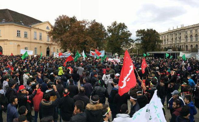 راهپیمایی گسترده عاشقان حسینی در اتریش
