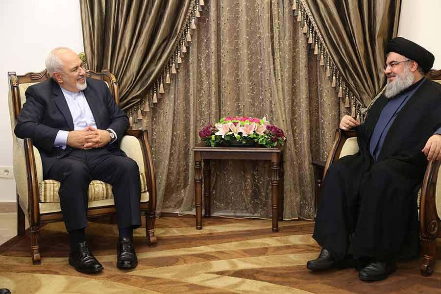 دیدار وزیر امور خارجه ایران با سیدحسن نصرالله
