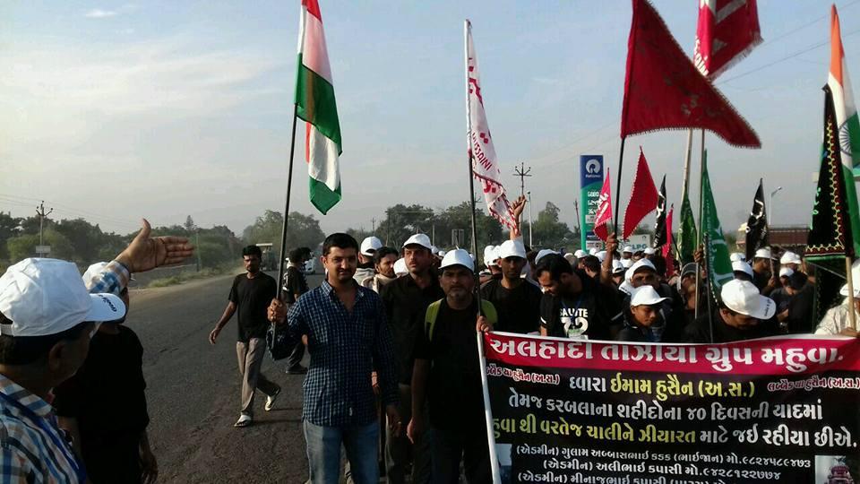تصاویری از راهپیمایی اربعین عزاداران حسینی در هند