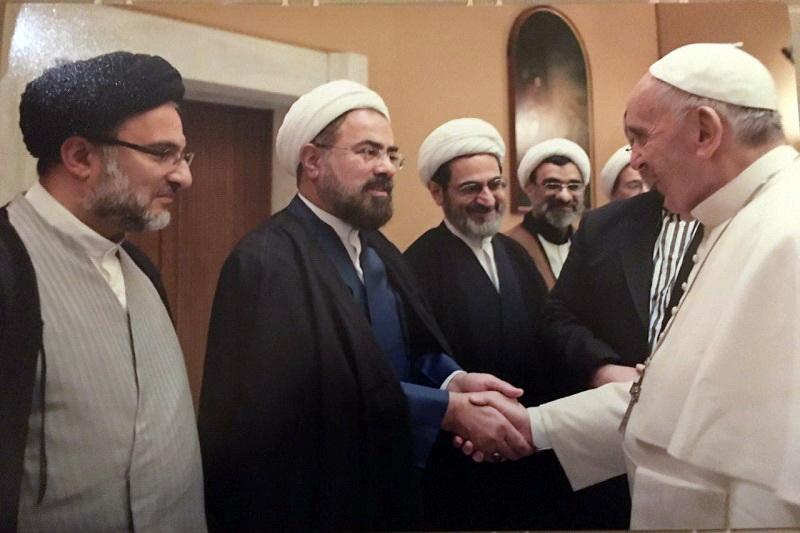 حجت الاسلام والمسلمین مرتضی جوادی آملی در دیدار با پاپ
