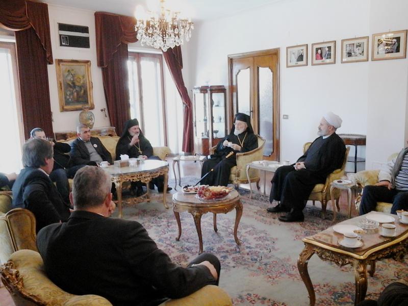 حجت الاسلام والمسلمین ربانی و اسقف کاپوچی