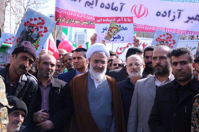 امام جمعه قزوین در راهپیمایی