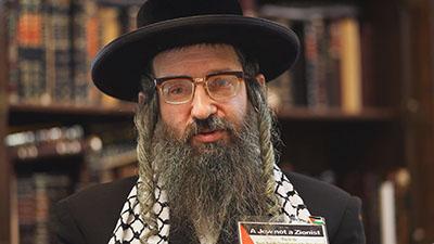 «دیوید ویس»، خاخام یهودی ضدصهیونیست و سخنگوی اتحاد یهودیان ضدصهیونیست «نتوری کارتا»
