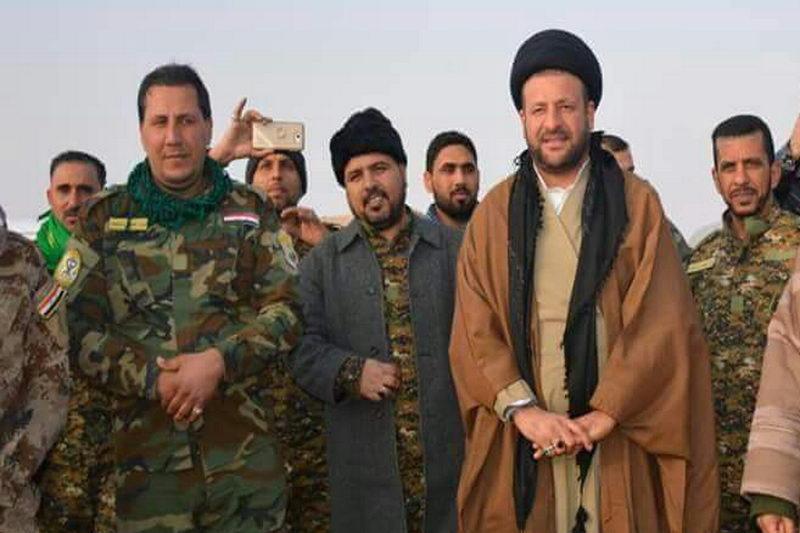 حجت الاسلام سید فارس الموسوی به همراه همرزمان بسیج مردمی