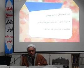 حجت الاسلام والمسلمین ابوالفضل مصطفایی، در جمع طلاب مدرسه علمیه کوثر قزوین