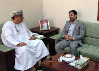 دیدار مدیر خبرگزاری عمان و بهمن اکبری رایزن فرهنگی ایران در مسقط
