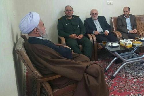 حجت الاسلام والمسلمین علی اسلامی در دیدار فرماندهان دفاع مقدس