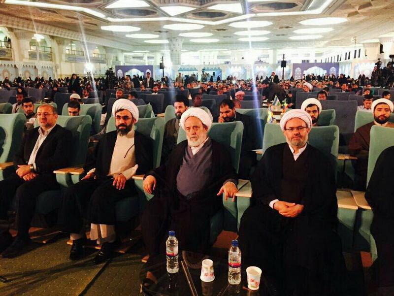 تجلیل از استاد انصاریان در مساقات بین المللی قرآن تهران