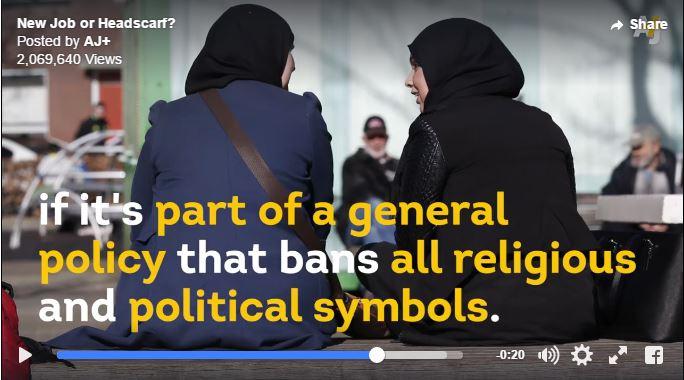 بانوی مسلمانی که مجبور شد میان شغل و حجاب یکی را انتخاب کند!