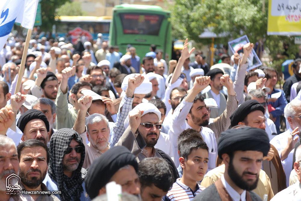 تصاویر/ راهپیمایی مردم قم در حمایت از شیخ عیسی قاسم