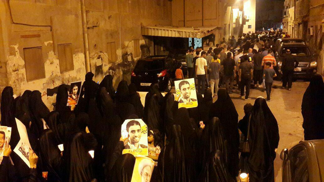 تظاهرات مردم بحرین در آخرین شب ماه مبارک رمضان