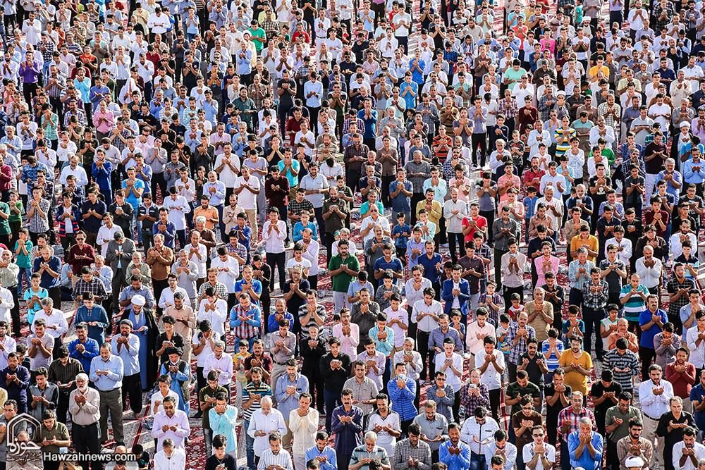 تصاویر/ اقامه نماز عید فطر در مسجد مقدس جمکران