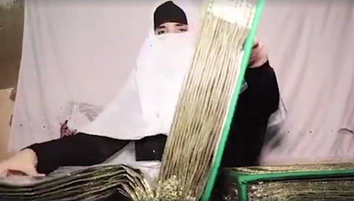 یک بانوی پاکستانی موفق به تهیه قرآن دست دوز شد