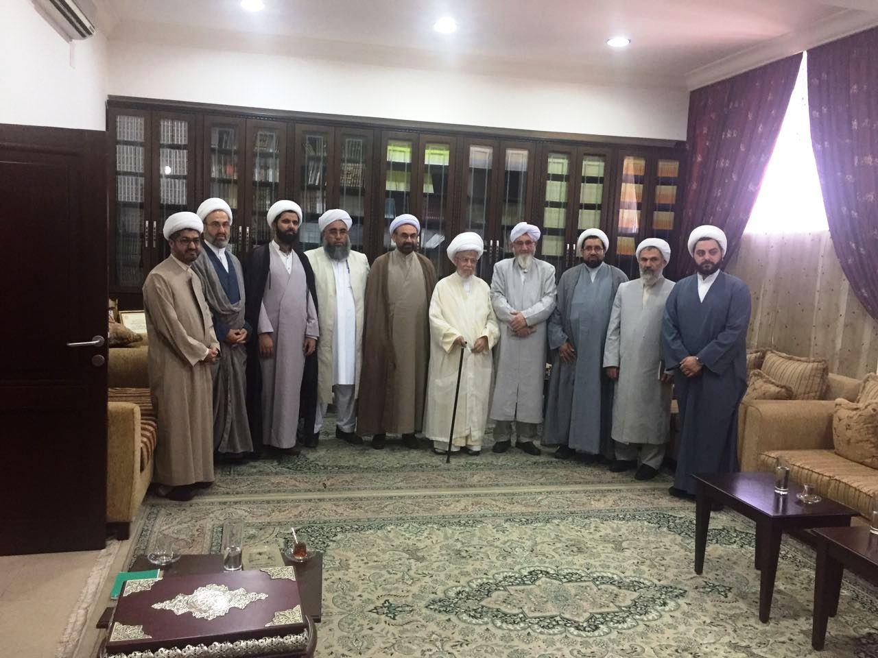 آیت الله نابلسی در دیدار علمای شیعه و سنی ایرانی