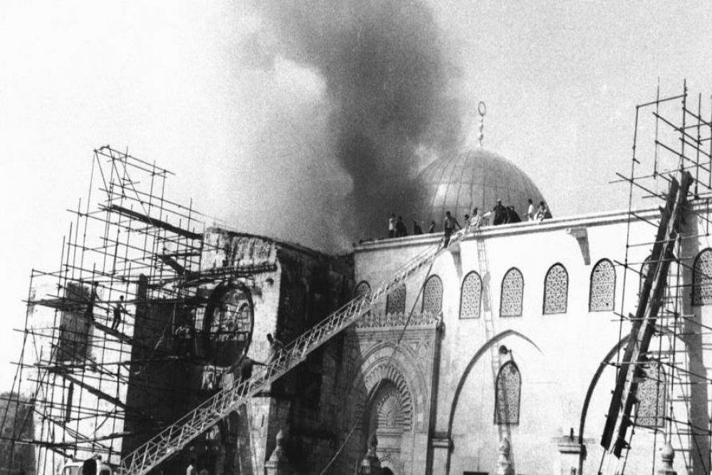 به آتش کشیدن مسجدالاقصی توسط صهیونیست ها