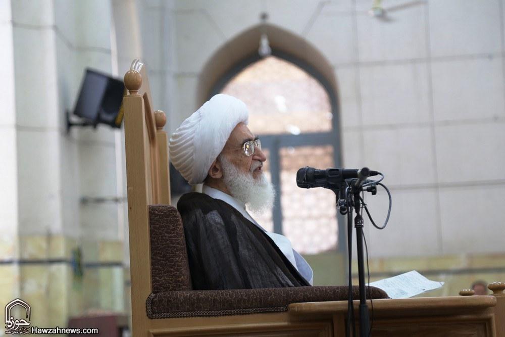 تصاویر/ آغاز درس خارج آیت الله العظمی نوری همدانی