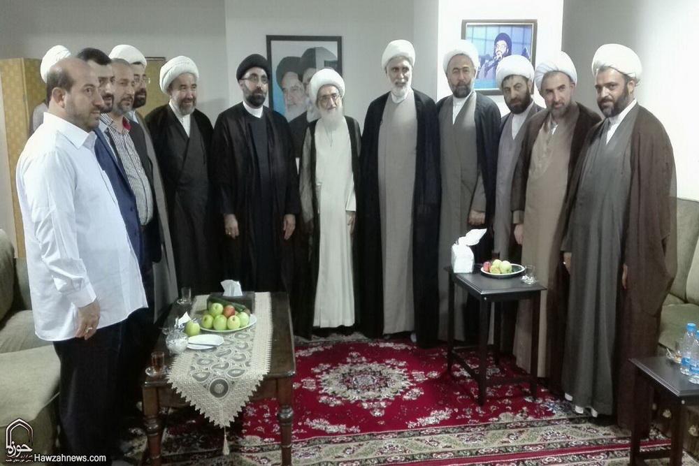 دیدار مسئولان جامعة المصطفی شاخه بیروت با آیت الله نوری همدانی
