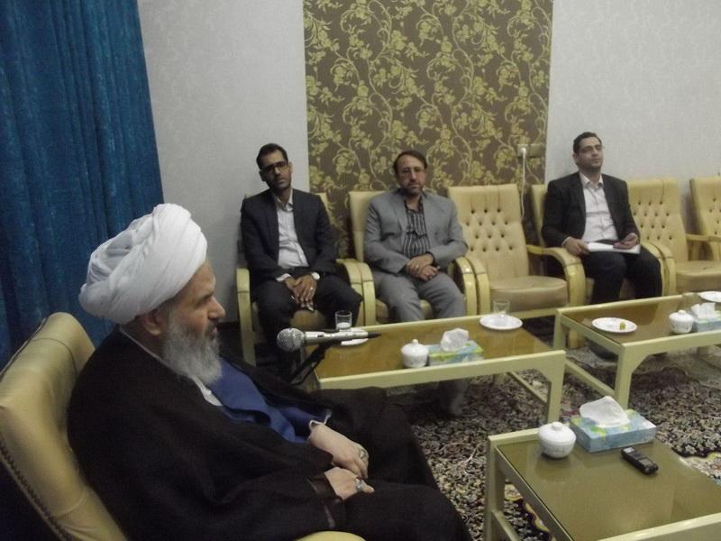 آیت الله نمازی-دیدار مسئولان دانشگاه آزاد اسلامی اصفهان