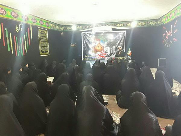 عزای حسینی در مدرسه زینبیه شهرستان ایوان