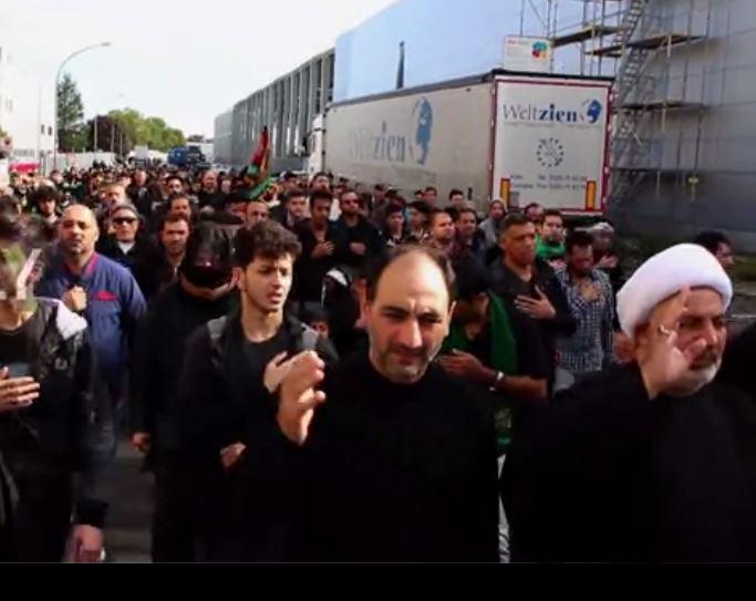 عزاداری باشکوه امام حسین (ع) در آلمان + فیلم عزاداری شیعیان در کلن