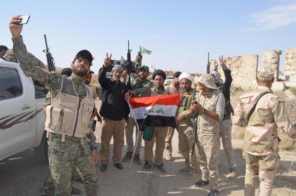 فضلای حوزه علمیه عراق در عملیات آزادسازی منطقه الفتحة
